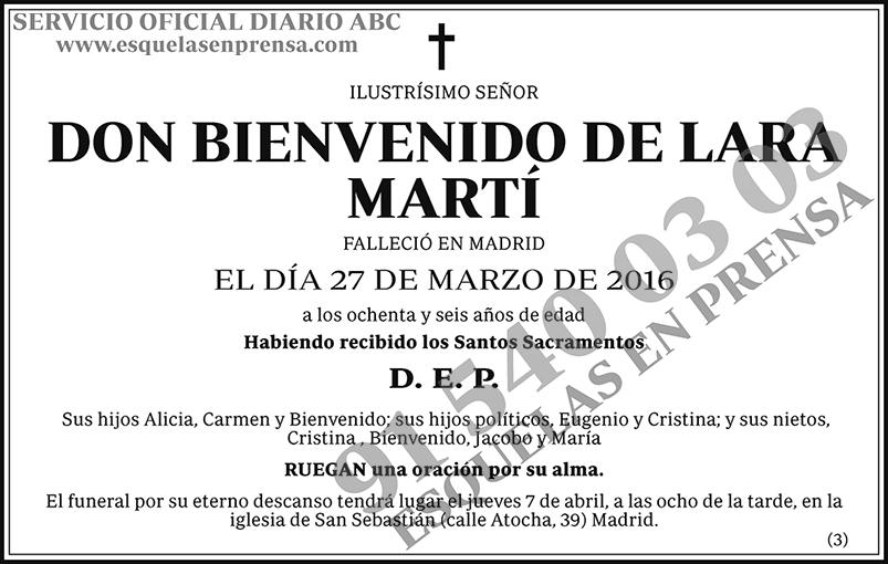 Bienvenido De Lara Martí